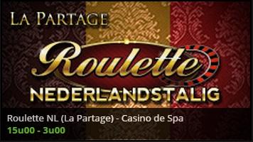 Live roulette casino belgie nederlandstalige roulette met la partage
